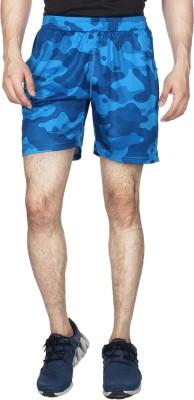 Creez Printed Men's Blue, Dark Blue Sports Shorts