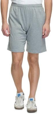 Oxolloxo Solid Men's Grey Night Shorts