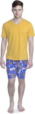 ALIGATORR Graphic Print Men's Blue Boxer Shorts