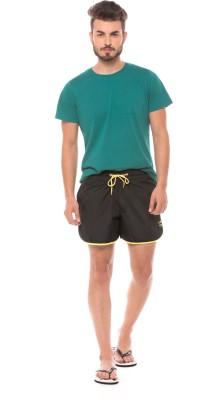 Prym Solid Men's Black Sports Shorts