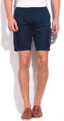 Pepe Solid Men's Blue Basic Shorts