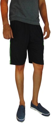B VOS Printed Men's Black Basic Shorts