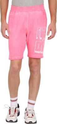 GUTS N GLORY Printed Men's Pink Sports Shorts