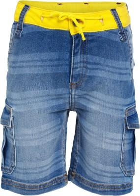 FS Mini Klub Solid Boy's Blue Denim Shorts
