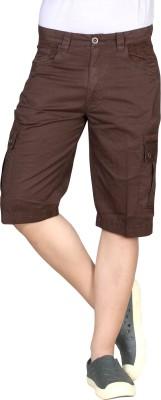 Hi-Sport Solid Men's Brown Basic Shorts