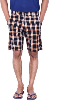 Calloway Checkered Men's Black, Beige Basic Shorts