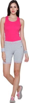 Sweet Dreams Solid Women's Grey Basic Shorts