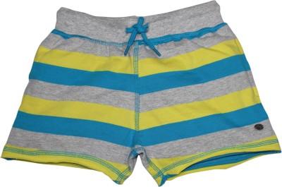 FS Mini Klub Printed Girl's Yellow Basic Shorts