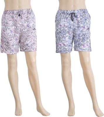 Karwan International Printed Men's Multicolor Beach Shorts
