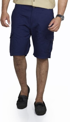 Inspired By Boardriding Solid Men's Dark Blue Basic Shorts