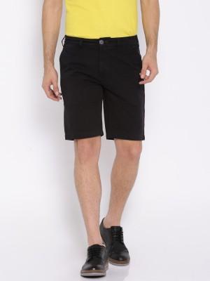 Harvard Solid Men's Black Basic Shorts