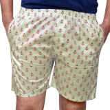 Aaduki Printed Men's Yellow Basic Shorts
