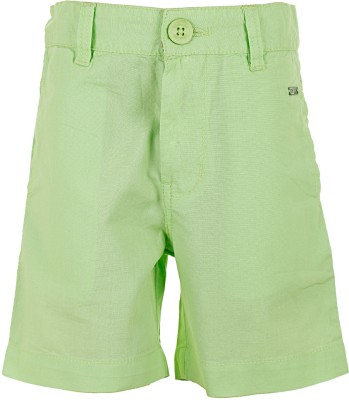 Ice Boys Solid Boy's Green Basic Shorts