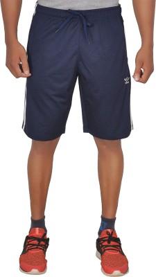 SCHOLAR Solid Men's Dark Blue Sports Shorts