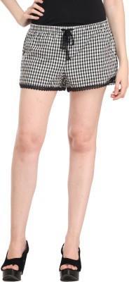 Cali Republic Checkered Women's Multicolor Night Shorts at flipkart