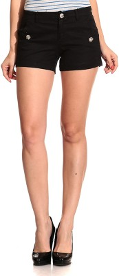 Concepts Solid Women's Black Denim Shorts