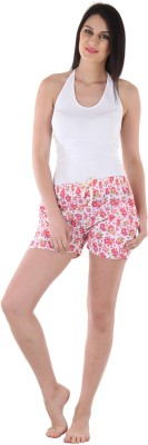 Private Lives Printed Women's Pink Night Shorts