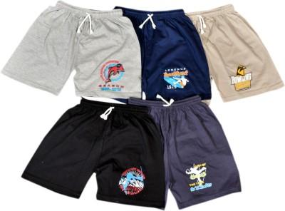 Frang Solid Boy's Multicolor Bermuda Shorts