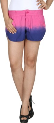 Modimania Self Design Women's Pink Basic Shorts