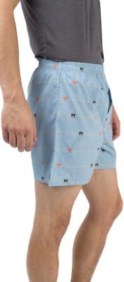 Chumbak Printed Men's Blue Basic Shorts