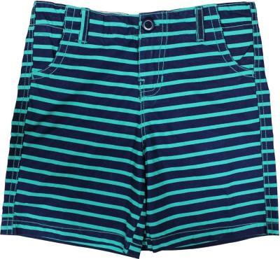 Cub Striped Boy's Multicolor Basic Shorts