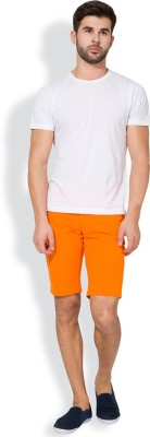 The Indian Garage Co. Solid Men's Orange Chino Shorts