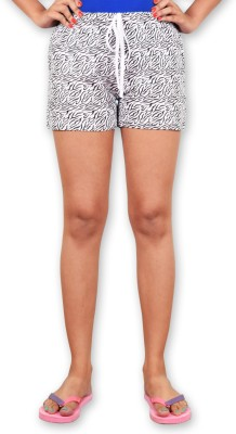 Riot Jeans Printed Women's White Boxer Shorts