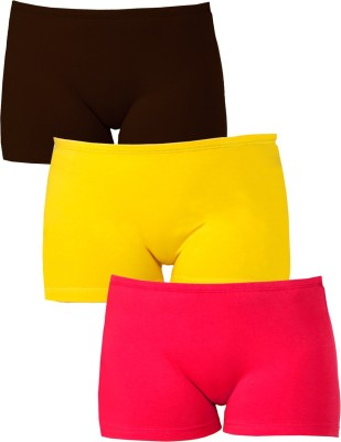 Softrose Solid Women's Brown, Pink, Yellow Sports Shorts