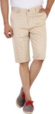 Studio Nexx Printed Men's Beige Basic Shorts