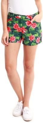 Nun Floral Print Women's Multicolor Basic Shorts