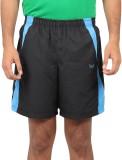 Bendiesel Solid Men's Black Sports Short...