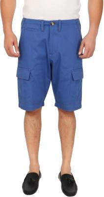 Blimey Solid Men's Light Blue Cargo Shorts