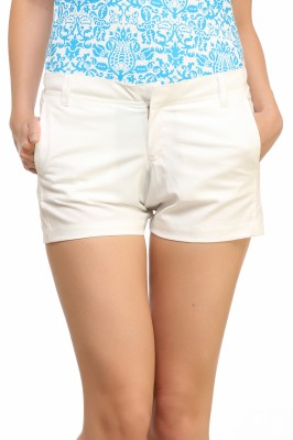 Cation Solid Women's White Hotpants