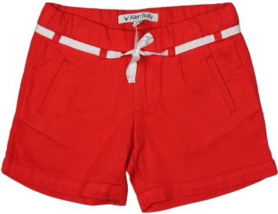 Allen Solly Printed Girl's Red Basic Shorts