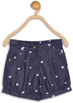 612 League Printed Baby Girl's Blue Basic Shorts