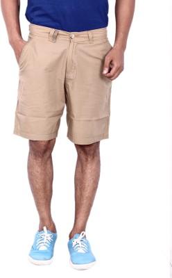 Calloway Solid Men's Brown Basic Shorts