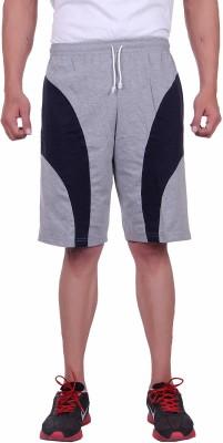 Huggers Solid Men's Grey Basic Shorts