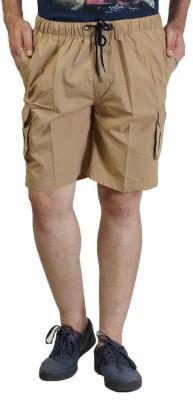 Seaboard Solid Men's Beige Cargo Shorts