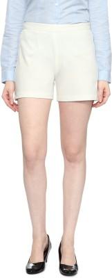 Van Heusen Solid Women's White Basic Shorts