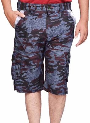 British Terminal Printed Men,s Multicolor Bermuda Shorts