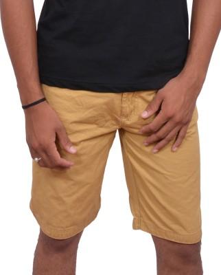 fak Solid Men's Purple Chino Shorts