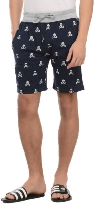 Rose Taylor Printed Men's Blue Basic Shorts