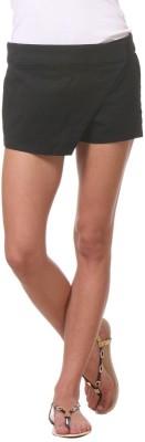 Kotty Solid Women's Black Basic Shorts at flipkart