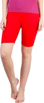 Rham Solid Women's Red Basic Shorts