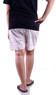 FSTOP Floral Print Women's Pink Night Shorts