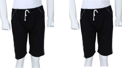 Gumber Solid Men's Black Basic Shorts