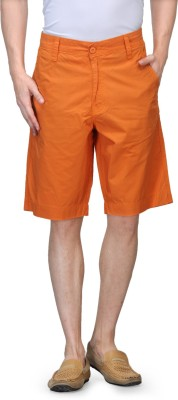 Global Nomad Solid Men's Orange Basic Shorts