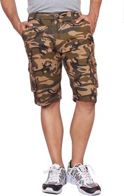 Black Casual Printed Men's Multicolor Basic Shorts, Sports Shorts