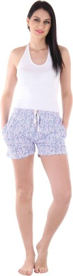 Private Lives Printed Women's Blue Night Shorts