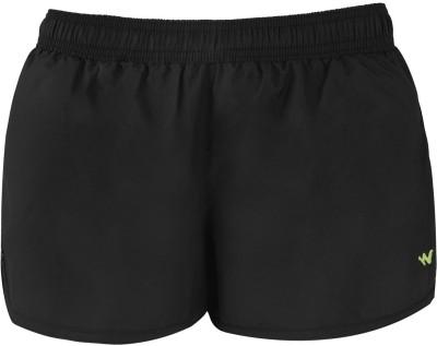 Wildcraft Solid Women's Black Running Shorts